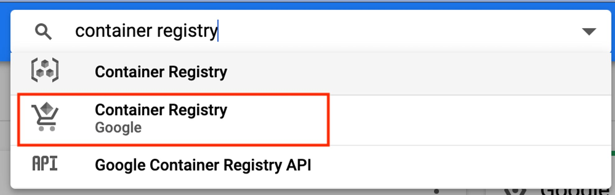 Enable Container Registry API
